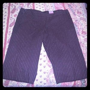 Brown Striped Cropped Trousers 🆕 Never worn